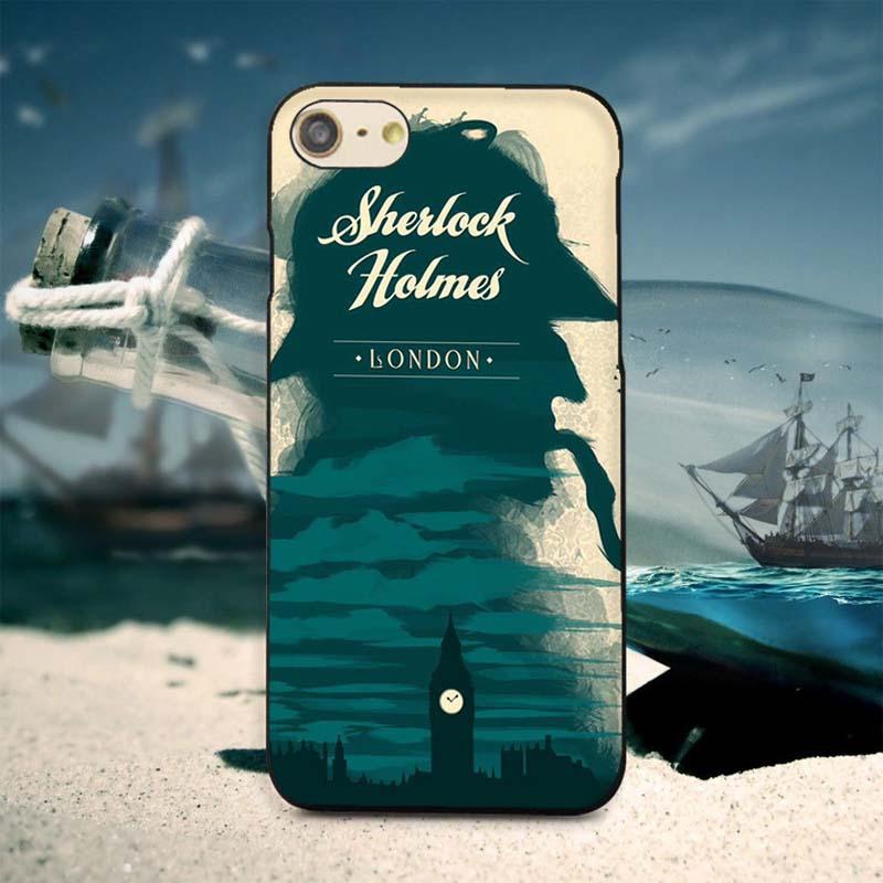 Classic Detective Sherlock Holmes iphone 7plus Case Hard Slim Plastic Protective Shell  -  Fashion Art Mall store