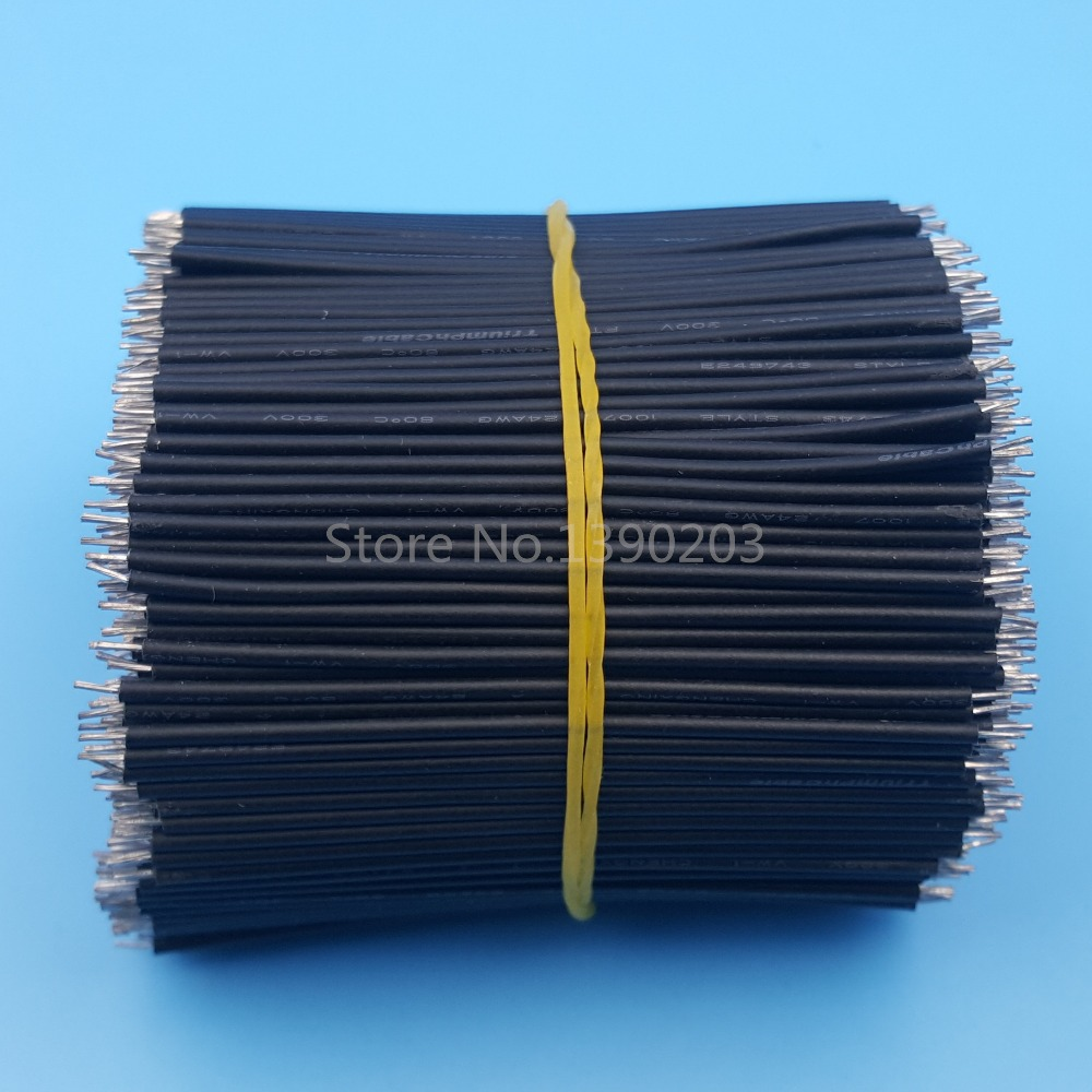1000Pcs Black 6cm Double End Tinned 24AWG Solder Wire Jumper Connector<br><br>Aliexpress