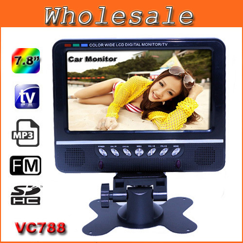 2014 New Mini Television 7.8 inch TFT LCD Color TV With Wide View Angle Support USB SD Card Consumer Electronics Portable TV(China (Mainland))