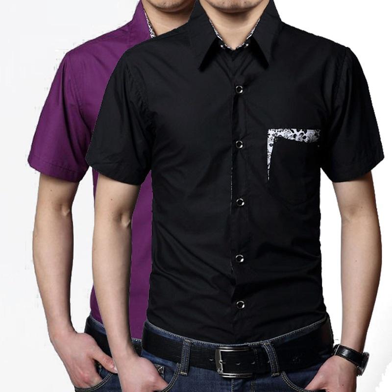 Plus size purple dress shirts
