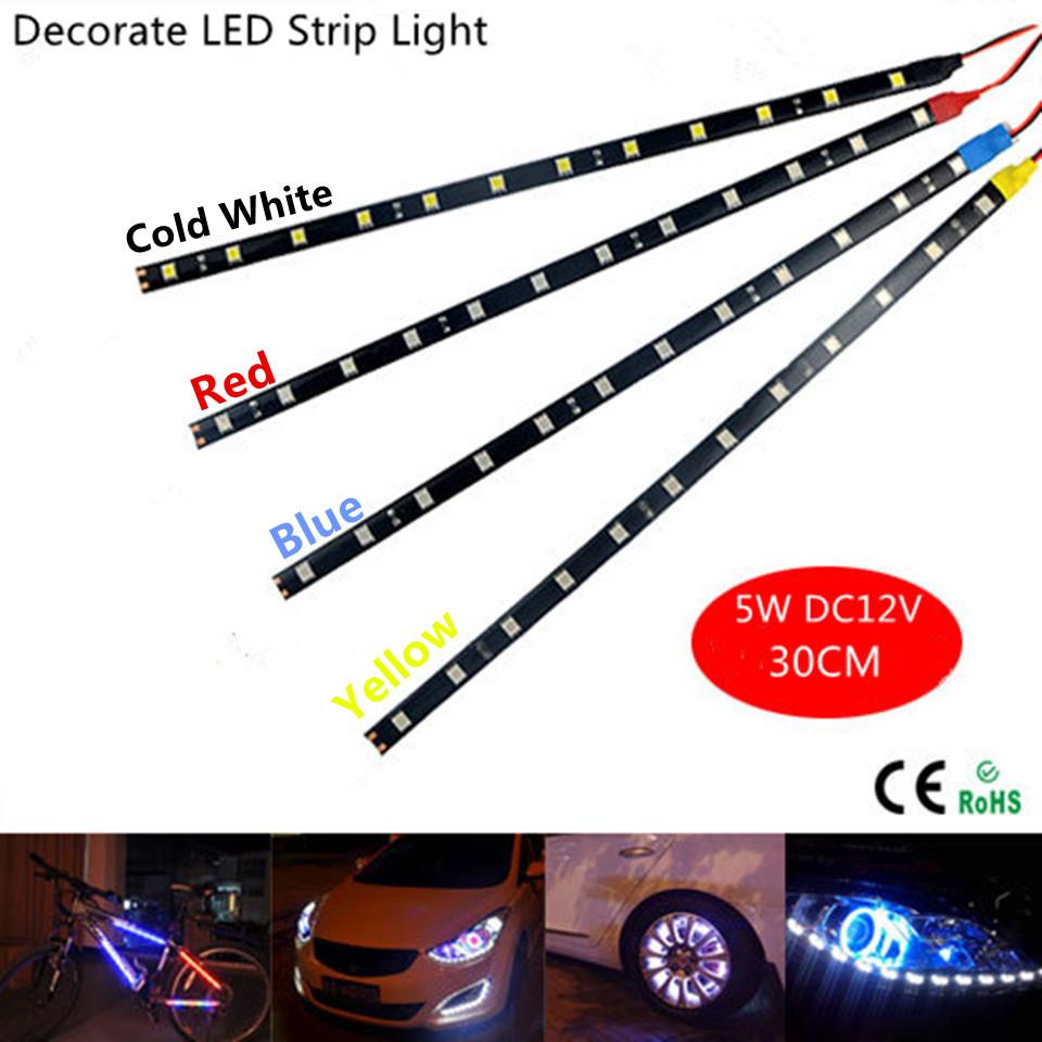 300mm 30cm 12leds DC12V 5W DRL automobile Car light auto LED Strip Daytime Running Lights Headlight Fog  Motor lamp Waterproof<br><br>Aliexpress