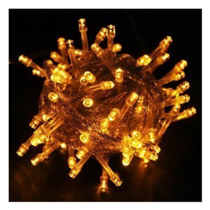 Top lederTEK Brand New 10M 100 LED Yellow Fairy Light String Holiday Lights for Christmas Party ...