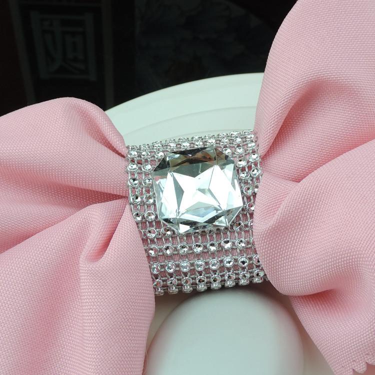 wholesale transparent big napkin ring for table
