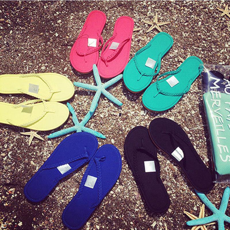 2015 Classic Women flat heel Summer women Sandal casual fashion woman shoes Flip Flops brand free shipping(China (Mainland))