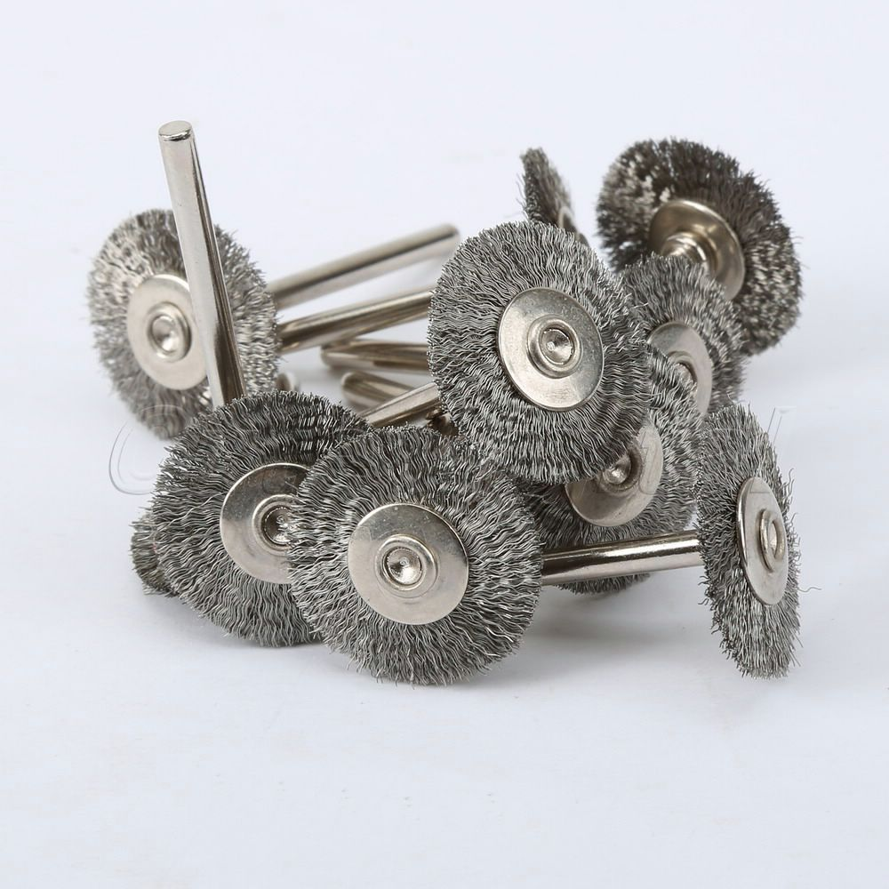 10pcs Stainless Steel Wire Wheel Brushes for Die Grinder Dremel Accessories Rotary Tool Free Shipping