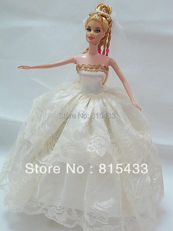 Buy white lace bodice wedding dress for for Barbie wedding dresses for sale