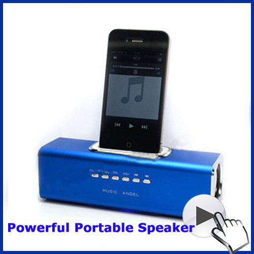 Multi-Functional mini portable speaker Suport USB TF Card Dock Station Speaker for ipod iphone3 iphone4 iphone 4s(China (Mainland))