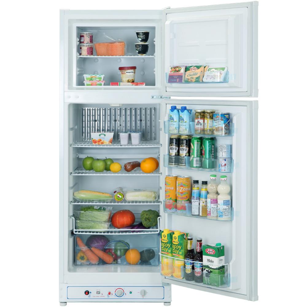 Smad 9.7 cu ft Gas Refrigerator for Home Low Noise No Freon 110V-240V 12V Absorption Propane Fridge Freezer for Hotel(China (Mainland))