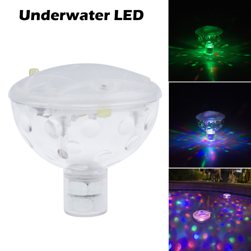 Freeshipping Underwater LED Aquarium Light Show for Pond Spa Hot Tub Disco LED Swimming Pool Light 6V 3AAA(China (Mainland))
