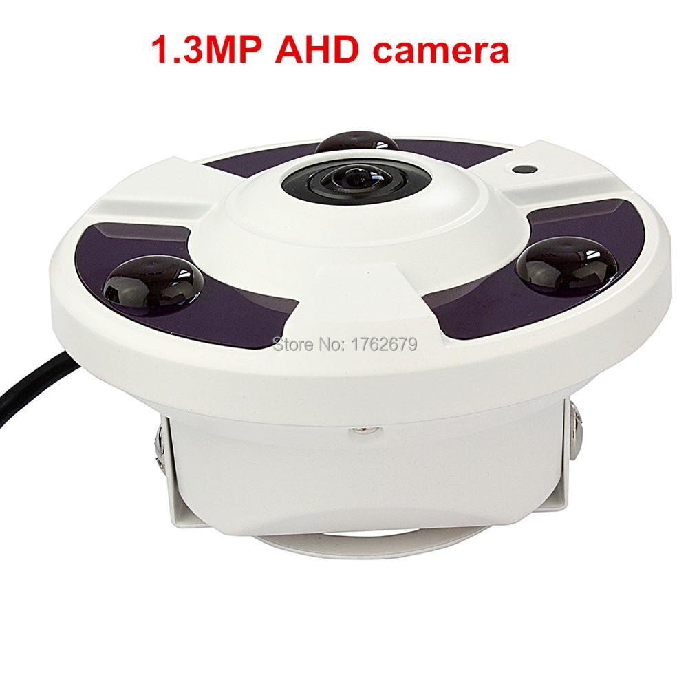 1.3MP 360 Degree Wide Angle Fisheye Panoramic Camera CCTV AHD Infrared Surveillance Camera Security 3pcs Array LED 20m IR range
