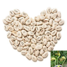 100pcs/lot Trendy Mini Magic White Bean Seeds Gift Plant Growing Message Word Love Office Home(China (Mainland))