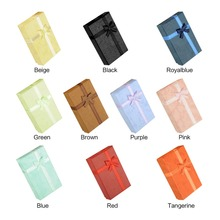 16PCS 8x5x2.5cm Bangle Jewelry Ring Earring Watch Gift Paper Box Bow knot Case Package Black Red Blue Orange Beige Brown Colors(China (Mainland))