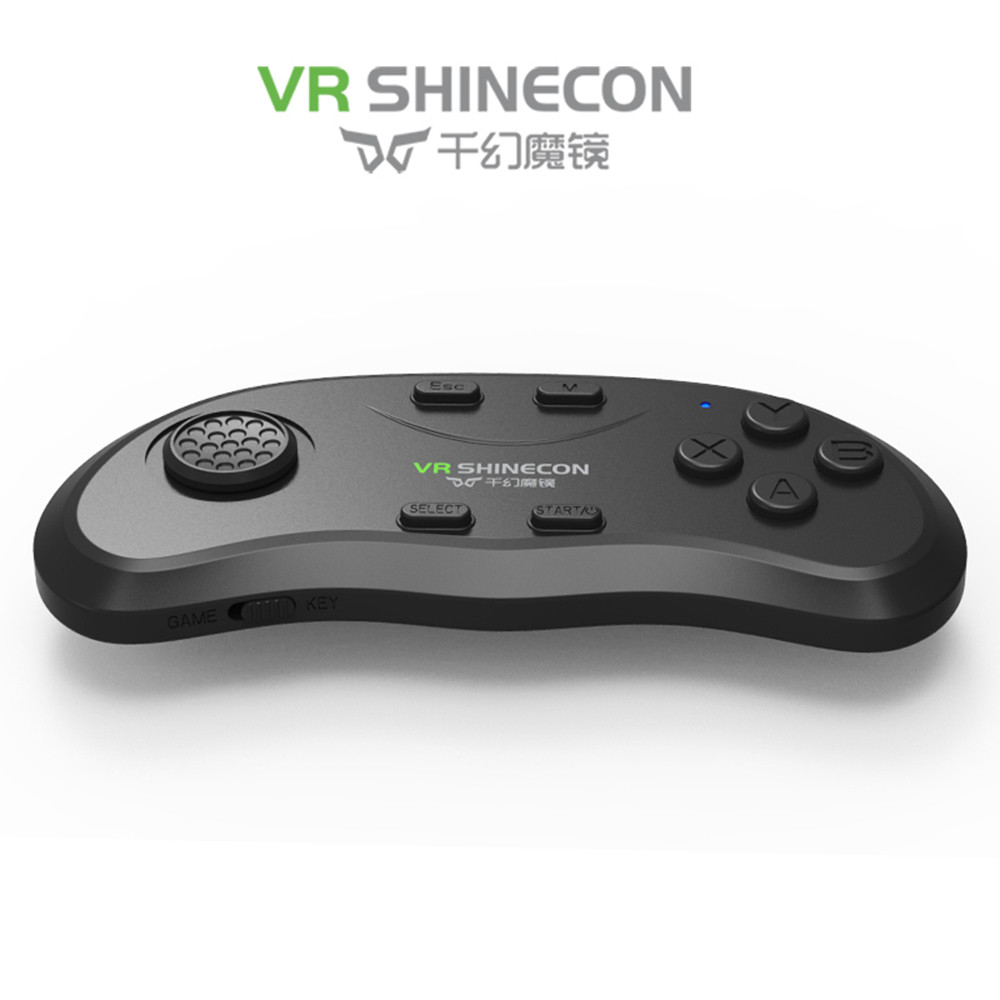 2016 Newest Original Bluetooth Remote Controller VR Shinecon Wireless Gamepads Mouse Music Selfie 3D Games for iOS Android PC TV