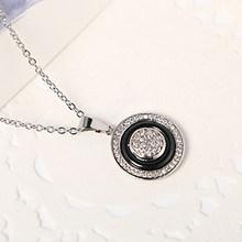 Vintage 585 rosa ouro círculo pingente colares para as mulheres moda austrália colar feito saudável cerâmica declaração jóias presente(China)