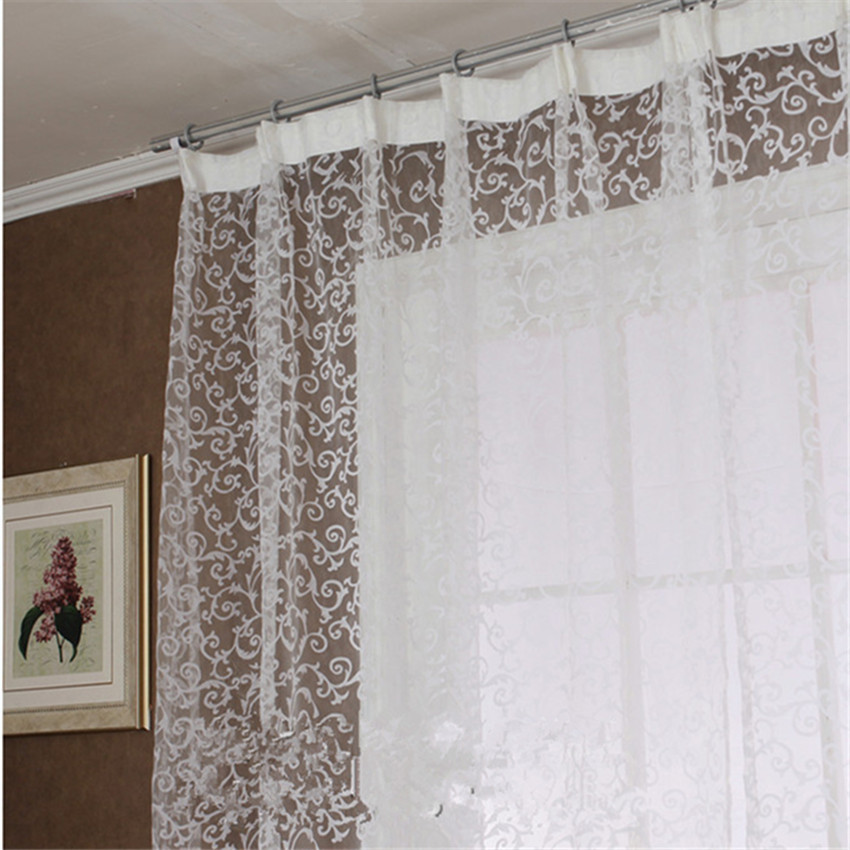 Fashion Window Screening For Bedroom Living Room Design Voile Tulle Curtains