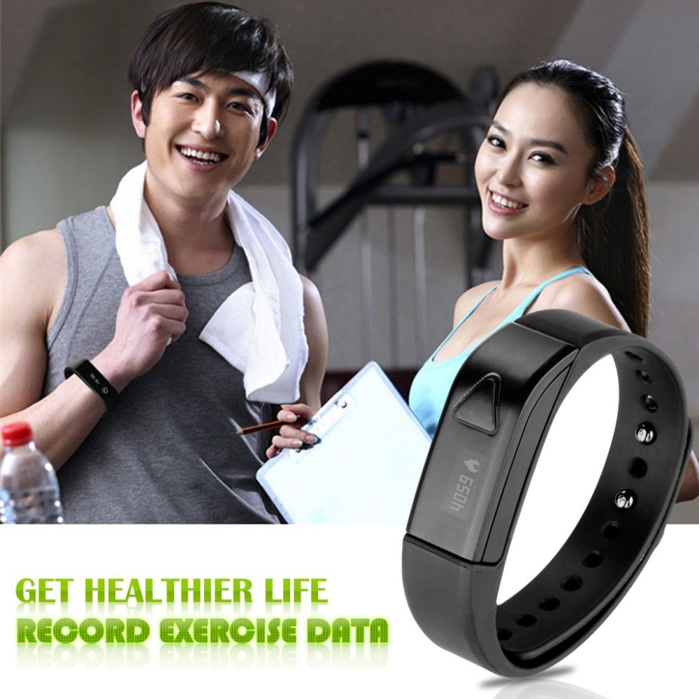 OLED Bluetooth 4.0 Smart Bracelet Fitness Wristband Pedometer Band Sleep Monitor Call Reminder IOS Android Support Win  -  Bravo!! store