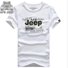 Buy AFS JEEP Brand T-shirt Male Round Neck Short Sleeve Breathable camisa Shirt Pure cotton Loose Men Tops Tees for $19.49 in AliExpress store
