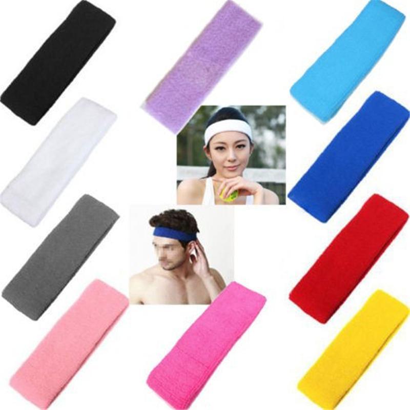 New Unisex Stretch Headband Gym Yoga Cotton Exercise Sports Sweat Head Hair Band Hair clips(China (Mainland))