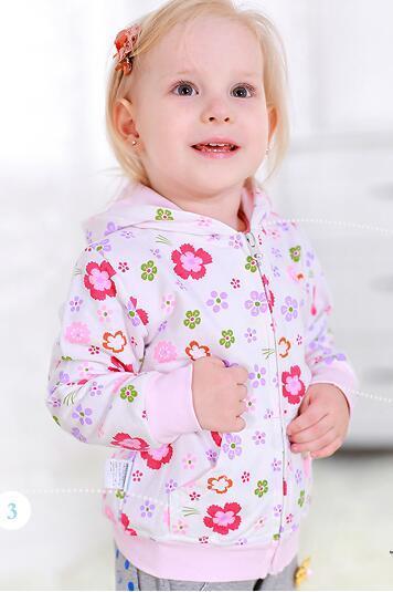 Девочка пальто 2016 весной ребенок пальто толстовка топ 100% хлопка детей весной и осенью 0-2-летнего ребенок верхняя одежда