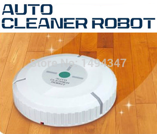 Random New Floor Cleaning Robot Time White Black Cleaner Robot Microfiber Smart Mop Automatic Dust Cleaner 20 pcs clean paper(China (Mainland))