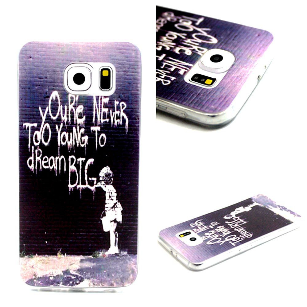 Ultra Thin Soft Plastic Phone Case Sea Star Lovers Kiss Painted TPU Gel Silicone Cover For Samsung Galaxy S6 G9200 Capa,YK083