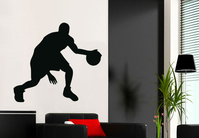 Passion Player Basketball High Waterproof Wallpaper Mural Basketball Wall Stickers For Bedroom Walls Decor(China (Mainland))