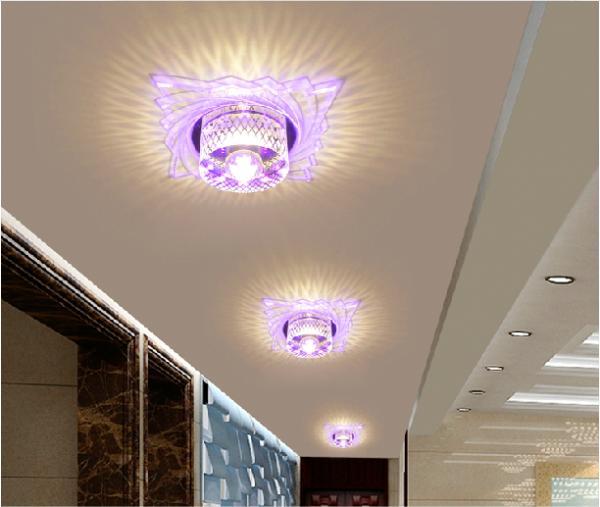 3W warm white New Modern Crystal LED Ceiling Light Fixture Lighting(China (Mainland))