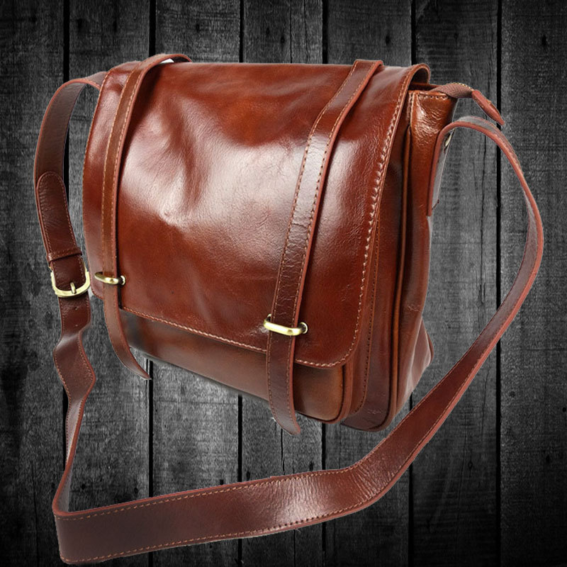 Famous brand design high quality vintage genuine leather women shoulder bag<br>
