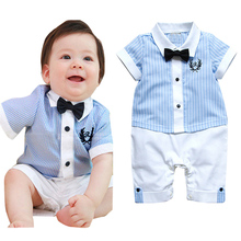 Retail baby boy clothes,new born baby boy casual romper, baby jumpsuit ,infant clothes, children clothing