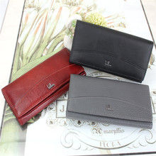 2015 New arrive women's design wallet fashion ladies' zipper coin purse genuine leather couple clutch mobile phone holde(China (Mainland))