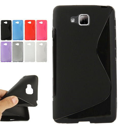 Fashion New TPU S Line Anti-sskid Slim Wave Rubber Gel Protective Mobile Phone Cover Case Skin for LG Optimus L9 II / D605(China (Mainland))