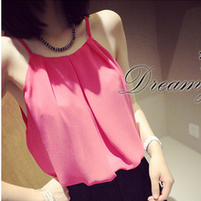 Summer women clothes fashion thin clavicle chiffon small condole belt vest