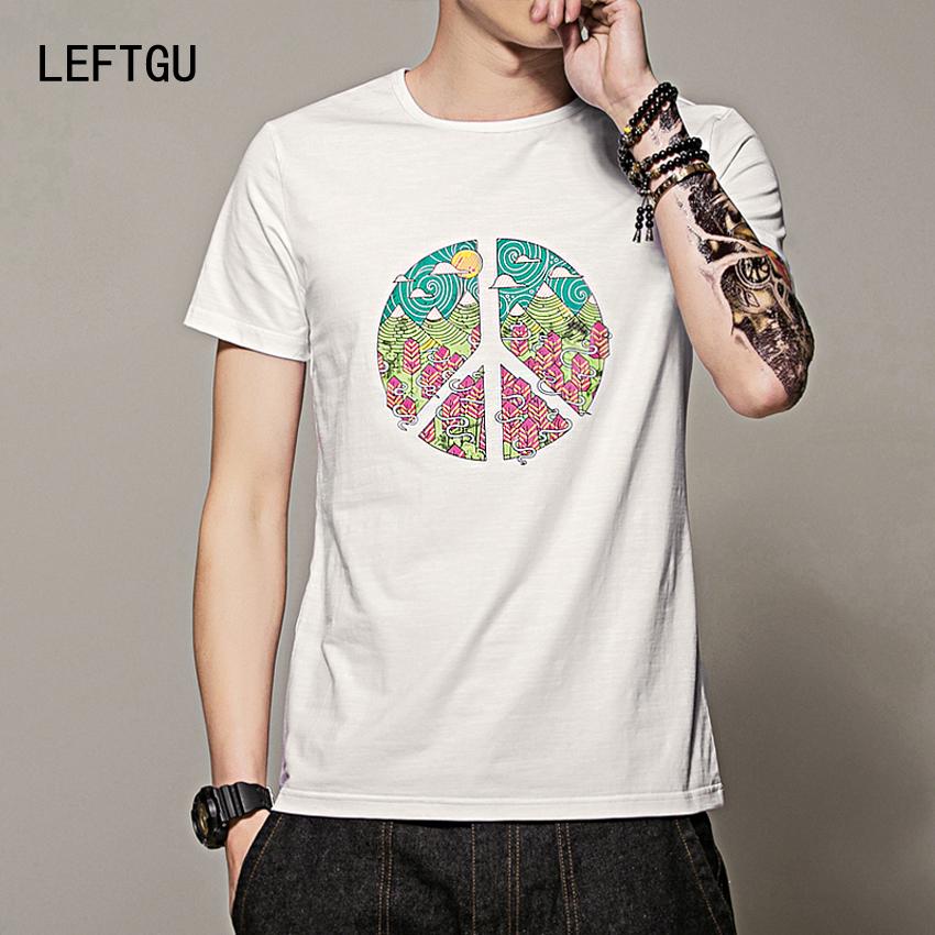 Men's t-shirt Fashion Summer personality sprint Short sleeves 95% cotton Tops Tees t shirts men brand clothing white black