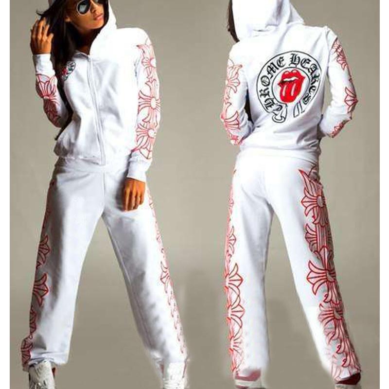 2015 Casual Women's Tracksuit Print Hoodies Sweatshirt Pant One Set Harajuku Women Sport Suit Plus Size Sports Cardigans Pockets(China (Mainland))