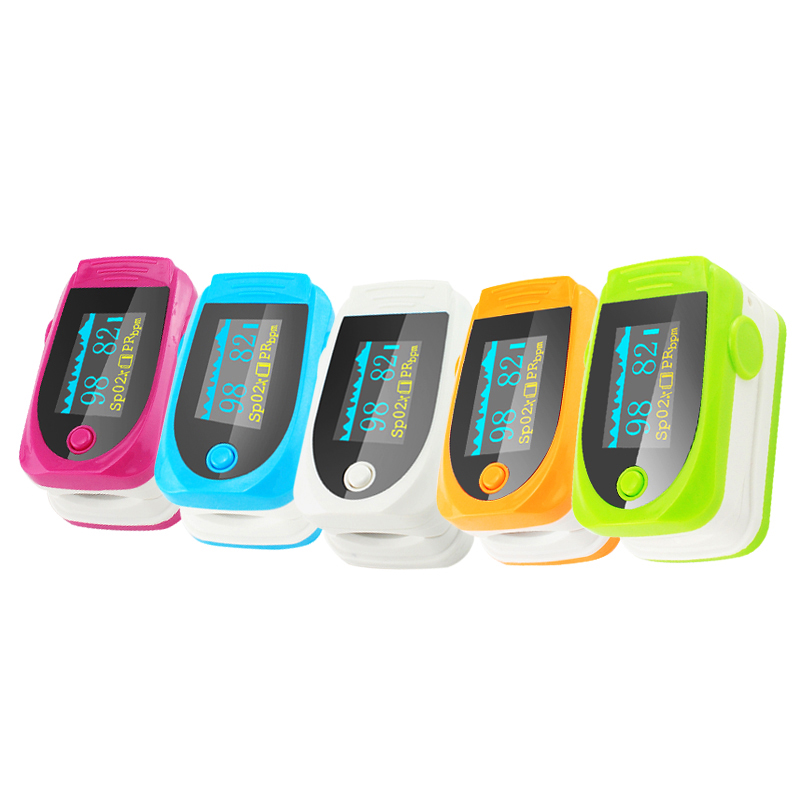 New Color OLED Fingertip Pulse Oximeter With Audio Alarm & Pulse Sound - Spo2 Monitor Finger Puls Oximeter