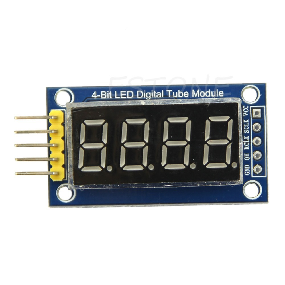 J35 Free Shipping 4 Bits Digital Tube LED Display Module Four Serial for Arduino 595 Driver
