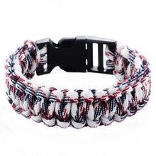Buy Outdoor Camping Survival Bracelet Paracord Bracelets KIT Military Emergency Survival Bracelet Men Women Rope Charm Bracelets for $1.06 in AliExpress store