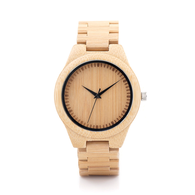 BOBO BIRD Men's Watches Gift All Bamboo  Male Wood Wristwatches Wood Strap Watch with Retail Gift Box Relogio Masculino D19