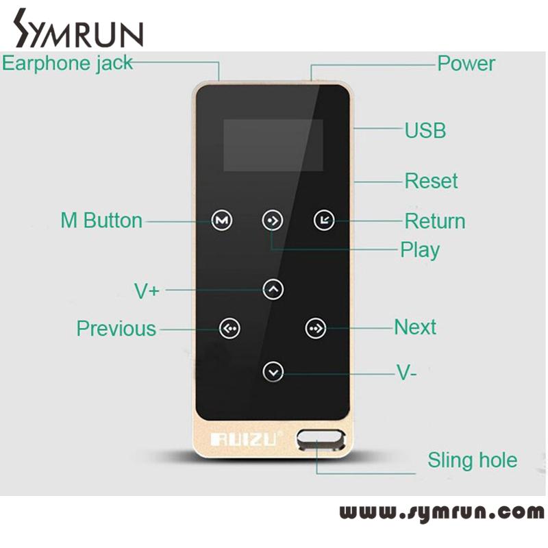 Symrun NEW Original HIFI Lossless Sound MP3 Music Player Touch Button Screen FM,E-Book 8GB Fm MP3 Player(China (Mainland))