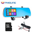 Android GPS car rearview mirror camera dvr Dual Lens with back rear cam 5 0 IPS
