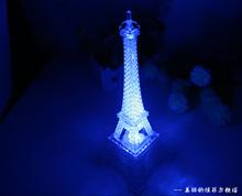 Romantic Creative Eiffel Tower Beautiful Table Home Wedding Decor Night Light Efficient Lamp Decoration Gift(China (Mainland))
