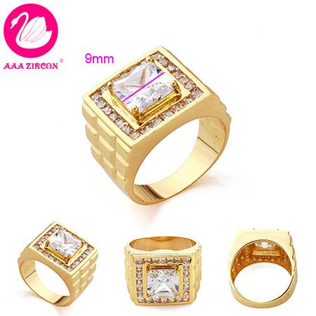 Aliexpress.com: Acheter Hommes 18 K or jaune plaqué anneau de mariage ...