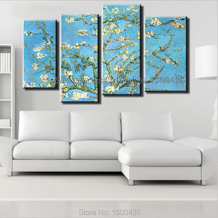 handpainted oil painting reproduction 4 piece modern. Black Bedroom Furniture Sets. Home Design Ideas