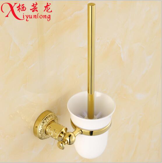 Bathroom accessories manufacturers wholesale gold toilet brush holder suit toilet cleaning brush toilet cleaning brush elbow(China (Mainland))