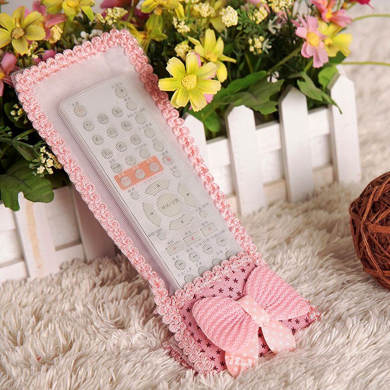Cute Rustic Cartoon Lace Decoration TV Machine Air Conditioning Remote Control Cover Protective Case Drop Shipping SHB087(China (Mainland))
