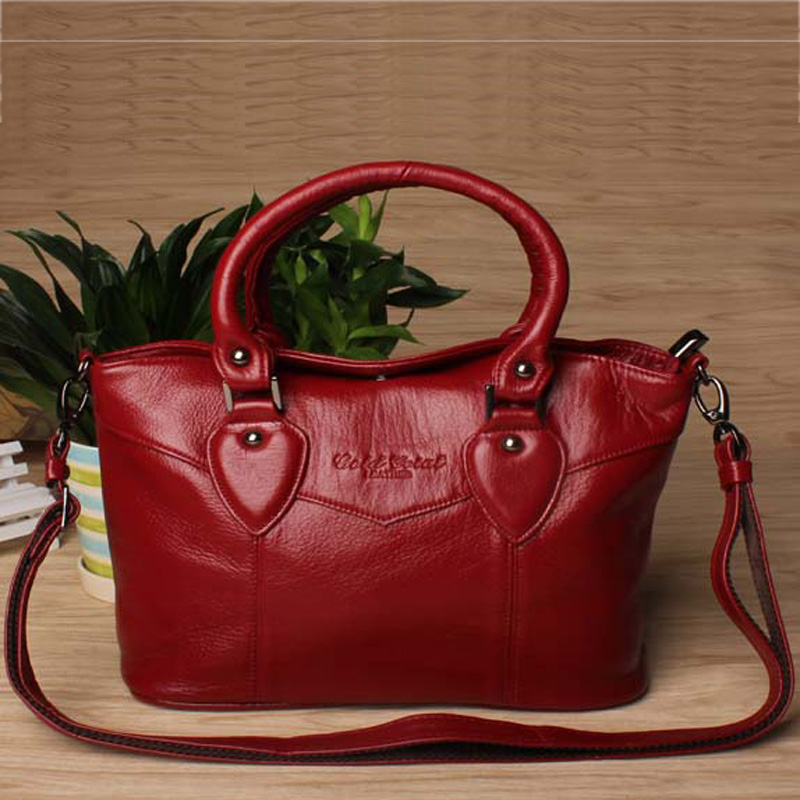 New style fashion genuine leather women messenger bags casual cowhide mothers shopping handbags ladies shoulder bags for women<br><br>Aliexpress