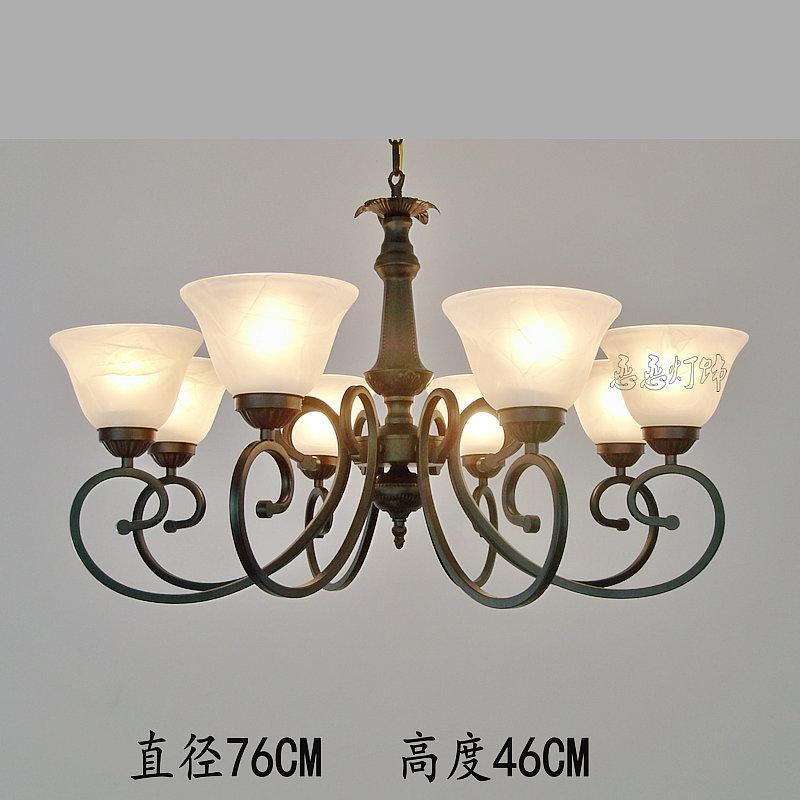 European simple Iron Chandelier dining room bedroom lamp hanging lamp LED Retro Modern Minimalist Garden<br><br>Aliexpress