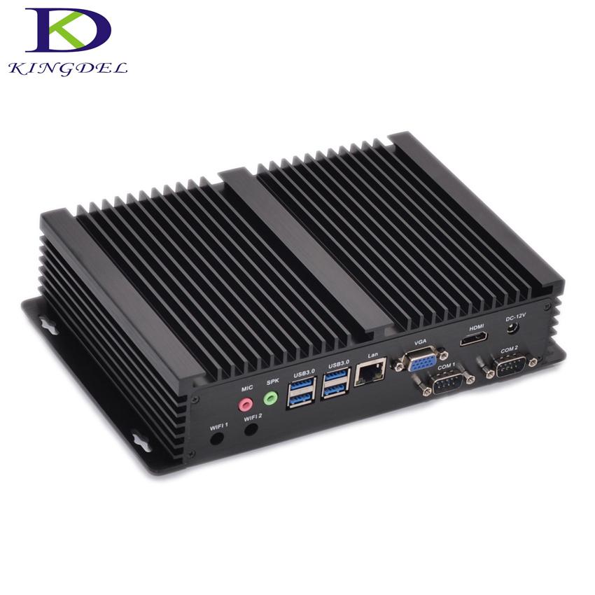 Fanless Industrial Mini PC Windows 10 Rugged ITX Aluminum Case Intel Core i5 4200u HTPC TV Box RS232 WiFi USB VGA Thin Client PC(Hong Kong)