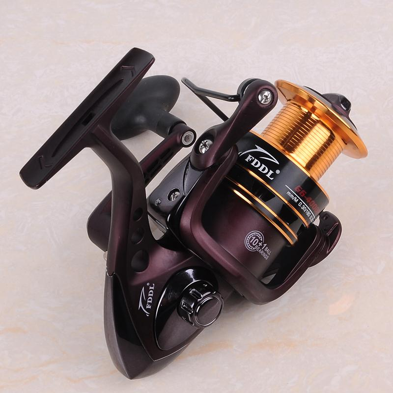 Unbelievable!The Best Rock Bass Carp Spinning Fishing Reel Metal 12BB + 1 Bearing Balls FDDL luminous Fishing reel(China (Mainland))
