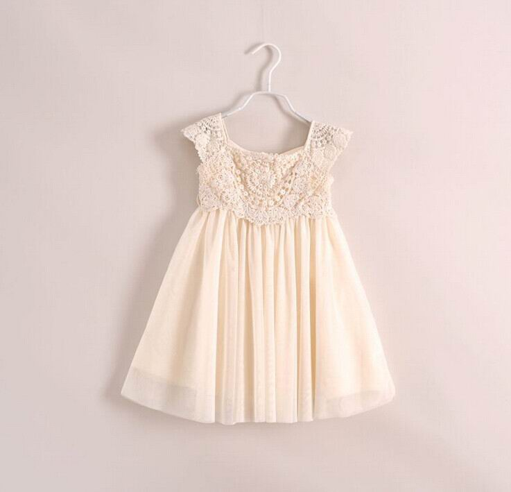 Wholesale Summer New Girls Dresses Hollow Out Lace Sleeveless Sundress Children Clothing 6159<br><br>Aliexpress